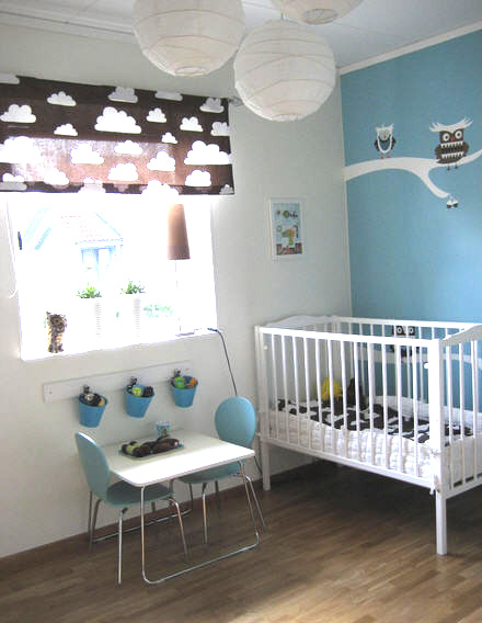 the boo and the boy: Decorating with clouds in kids rooms