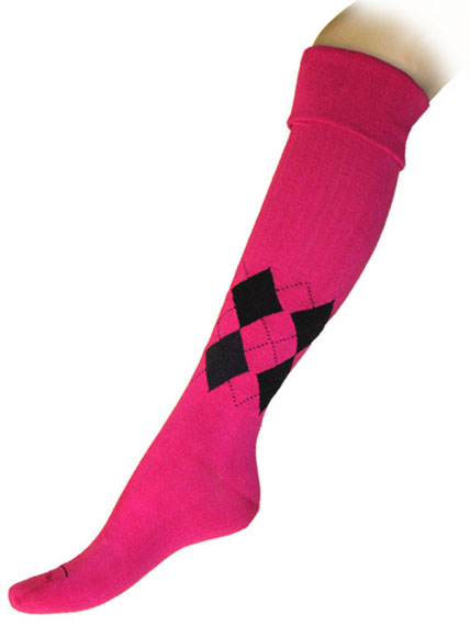 Argyle Cuffed Knee High