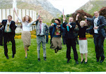 Lots of missionaries jumping with joy