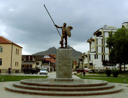 alexander statue, national hero monument  in FYROM, prilep
