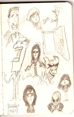 Sketchbook from Tony Sarrecchia
