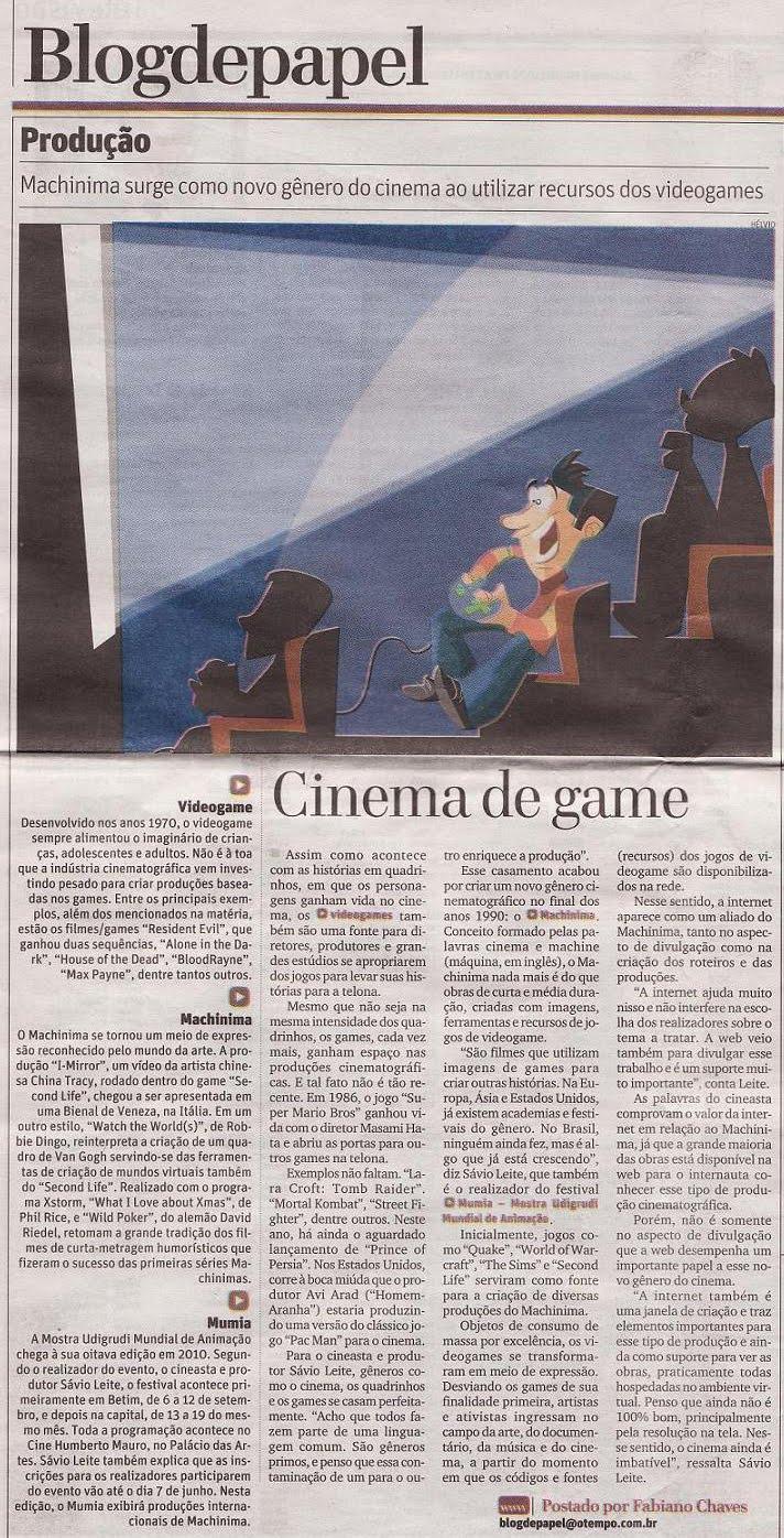 Article on Machinima O Tempo, Belo Horizonte