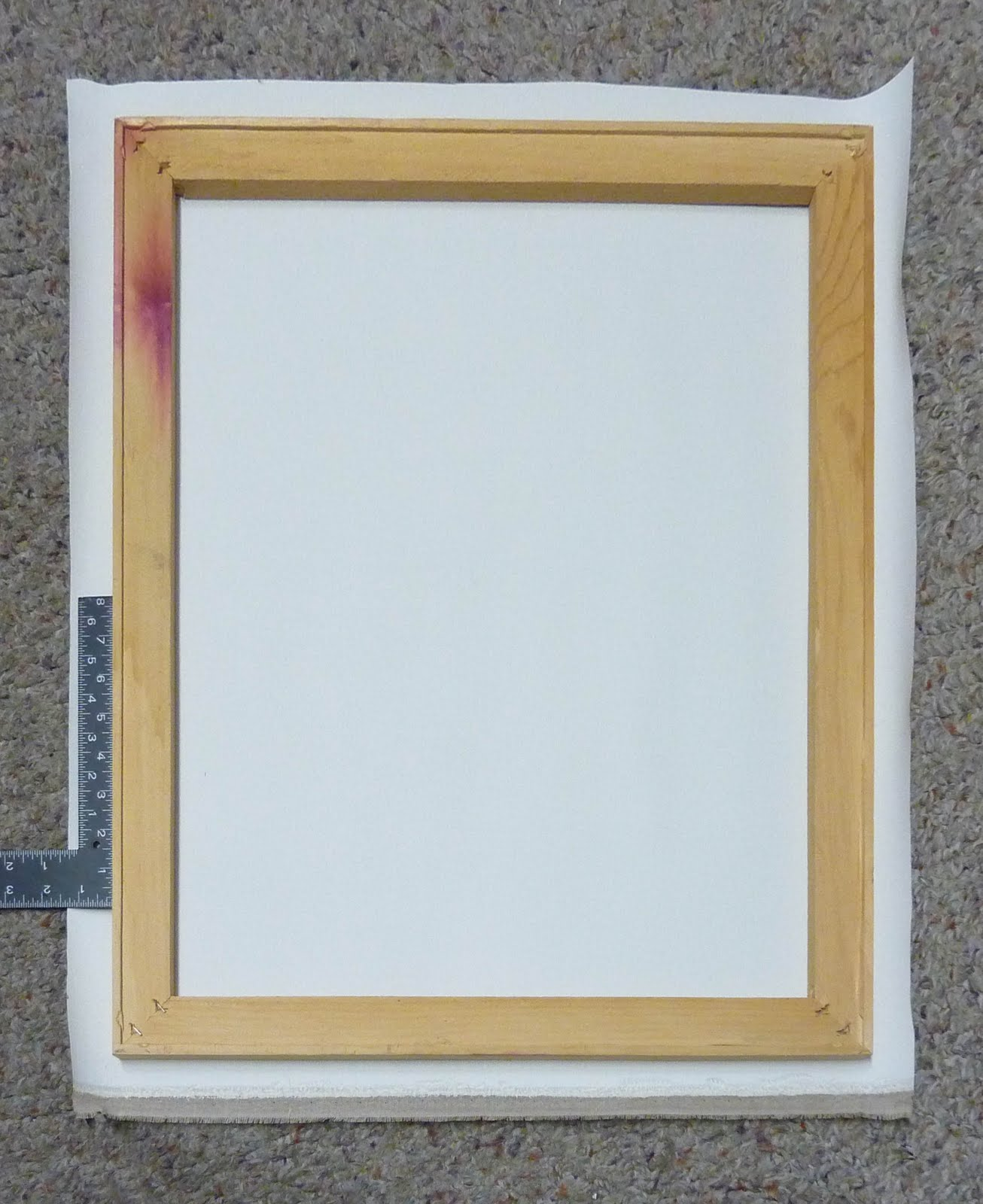how to make a frame to stretch canvas over