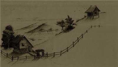 Nipa Hut Drawing Nipa Hut