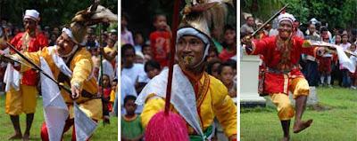 Cakalele war dancer
