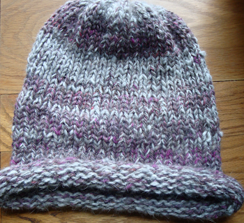Hand Spun Angora/Alpaca knit Hat