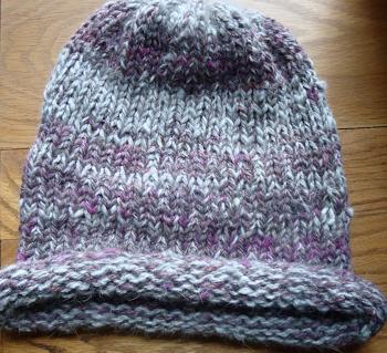 Hand Spun Angora/Alpaca knit Hat