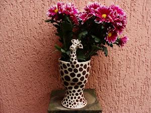 Girafa c/ flores
