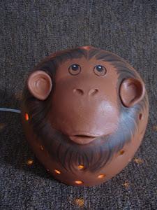 Luminária Macaco Ligada