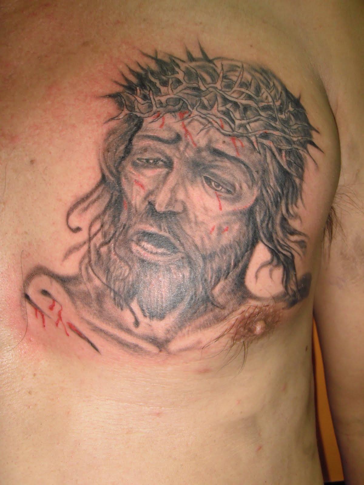 Тату лик иисуса фото