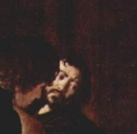 Caravaggio-Autoritratto (part. martirio di s. matteo)