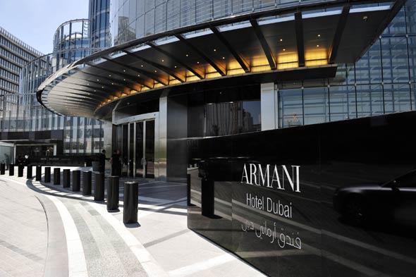 New life world armani hotel dubai for The hotel dubai