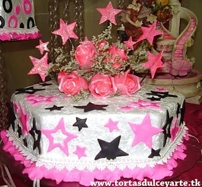 torta 15 años estrellas loca hexagonal lima peru foto 1