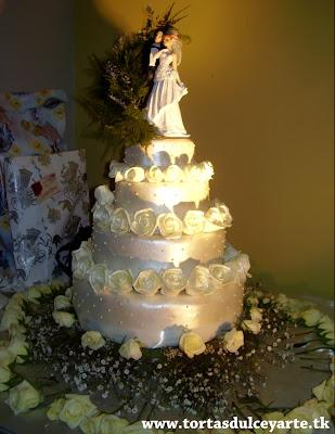 torta boda matrimonio lima peru flores foto 2