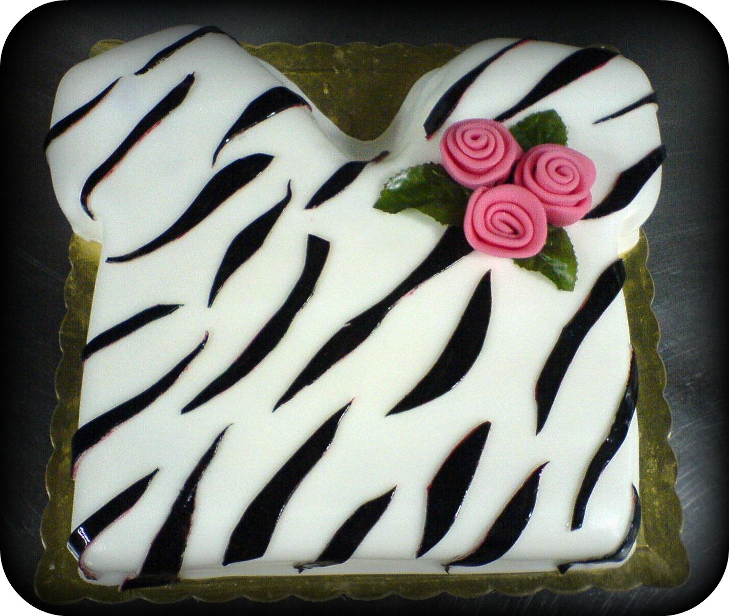 Zebra print T shirt cake
