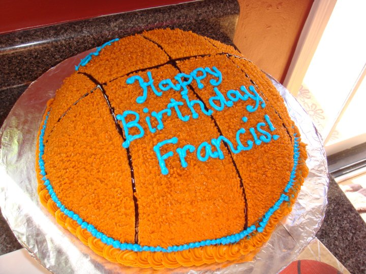 Krafts and Konfections Basketball Birthday Cake
