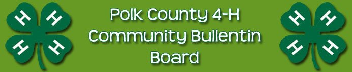 Polk County 4-H Community Bulletin Board