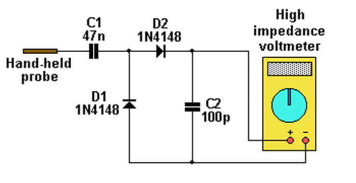 Elec p030 as well Hall Effect Switch Wiring Diagram likewise Measure Mag ic Fields also Electrical Noise Detector together with Alat Ukur Miligauss Meter. on gauss meter schematic