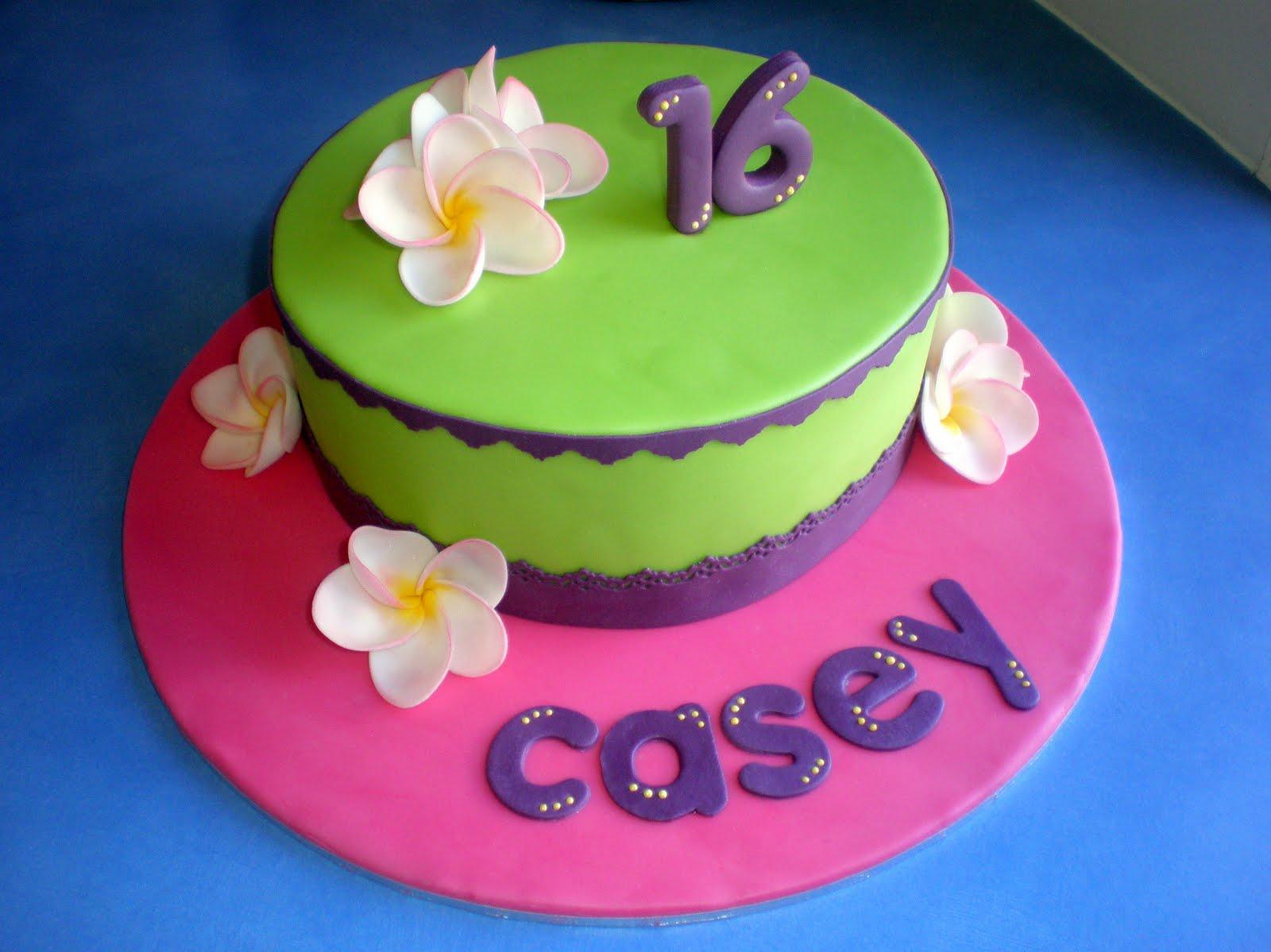 Sugar Siren Cakes Mackay Sweet 16 Frangipani Cake
