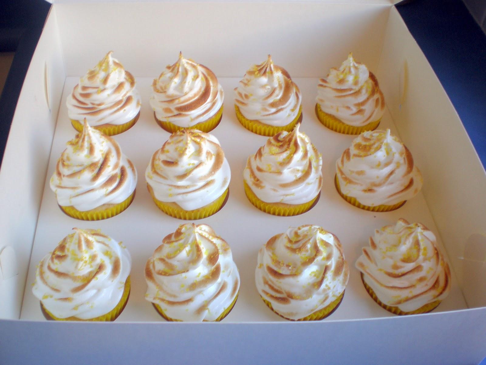 Sugar Siren Cakes Mackay: Lemon Meringue Cupcakes