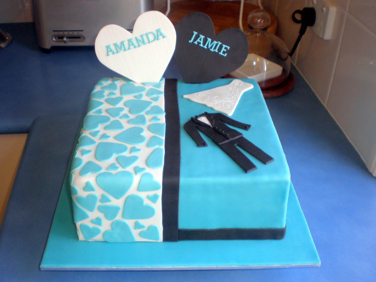 Sugar Siren Cakes Mackay Wedding Gown Amp Tux Engagement Cake