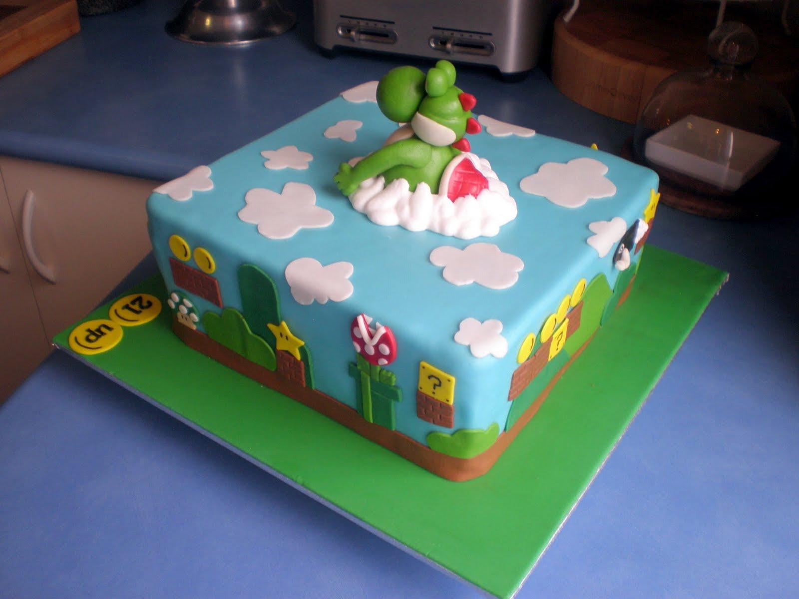 Sugar Siren Cakes Mackay Yoshi Super Mario Brothers Cake