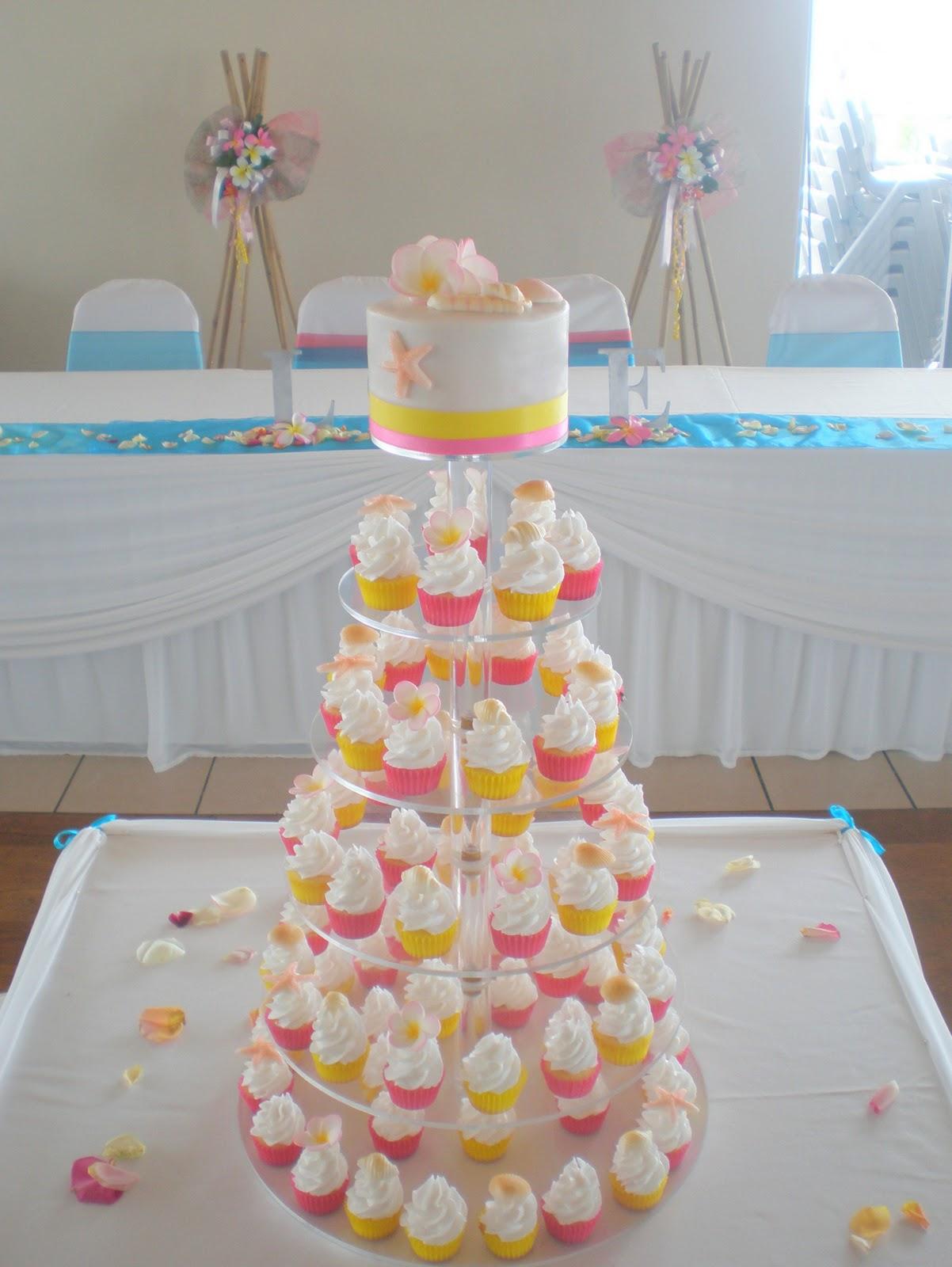 You Might Also Like Frangipani Wedding Cupcake Tower