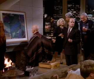 Frasier is embarrassed at a party. Film at Eleven.
