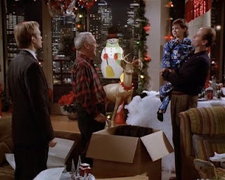 Frasier with Frederick on Christmas Eve