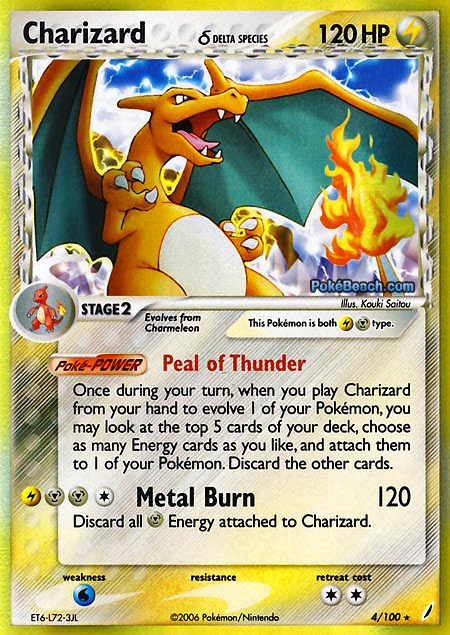 I just re-figured out the Pokemon card game. 4-charizard-d