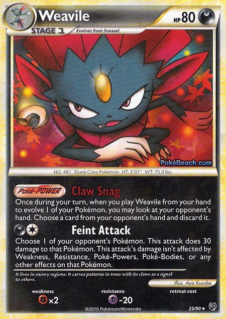 Pokemon Card of the Day: Weavile (Undaunted ...