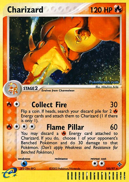 Electric Type Pokemon Cards ex Fire Type Pokemon Card