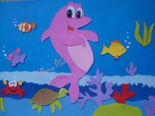 Ideas Creativas Goma Eva: Delfin Rosado