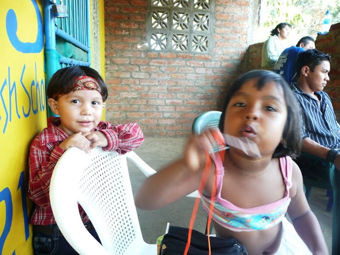 Milagro and her cousin Angel discover bubbles