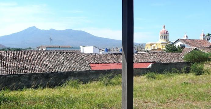 View from monastery in Granada--Mombacho in the background