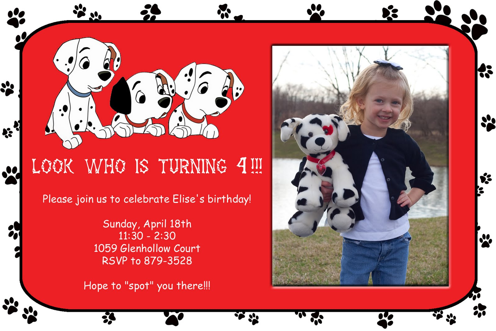 The Abraham Family Elise S Birthday Party Invitation 4 10