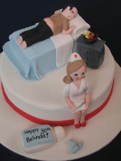 Blissfully Sweet Nurse Patient Birthday Cake