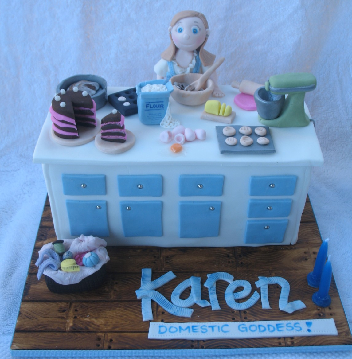 Blissfully Sweet A Birthday Cake For A Domestic Goddess