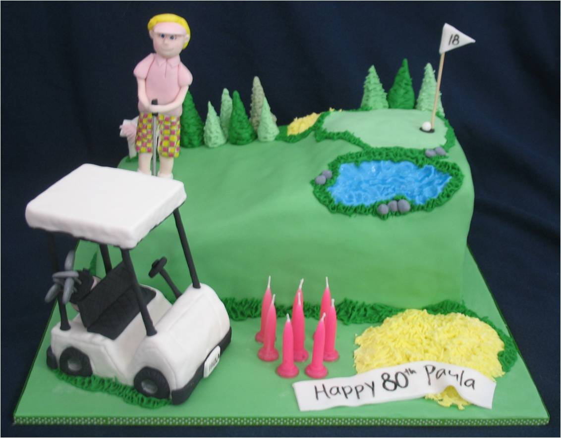 Blissfully Sweet 80th Birthday Cake For A Golfing Lady