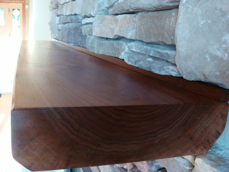 Walnut Floating Mantel