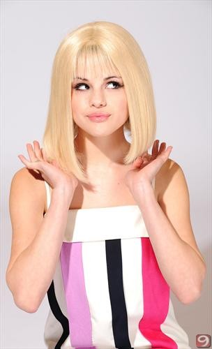 selena gomez who says photoshoot. selena gomez wig