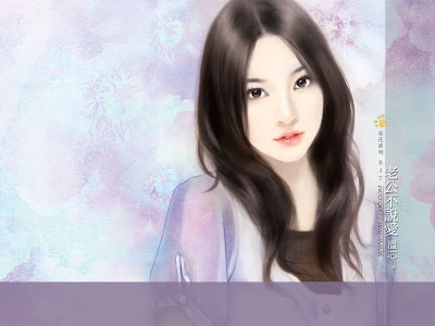 beautiful Asian girls painting