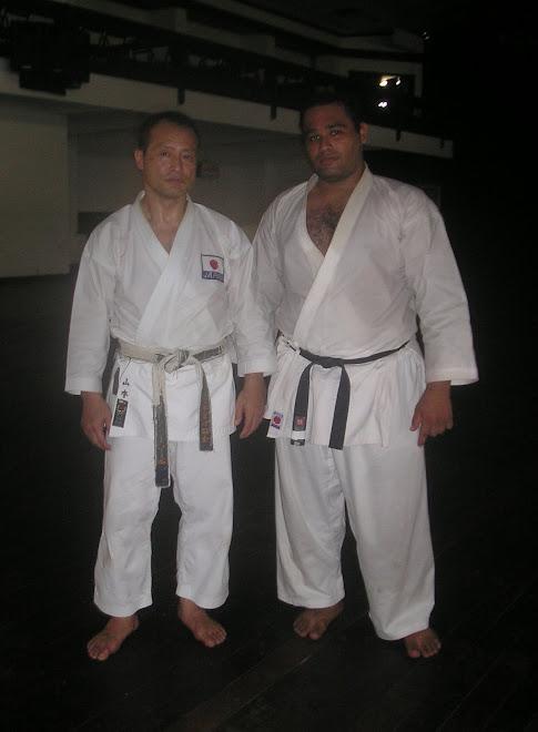 Mestre Hideo Yamamoto e eu