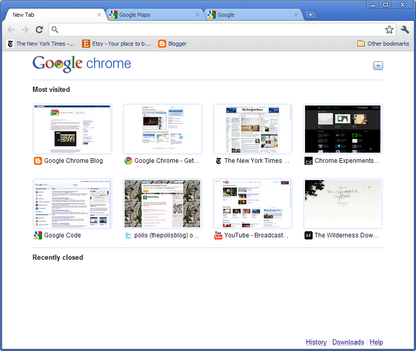 Google Chrome's new look