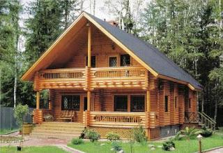Industria de la elaboracion de la madera usos de la - Casas de troncos redondos ...