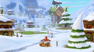 Winter scene on Free Realms