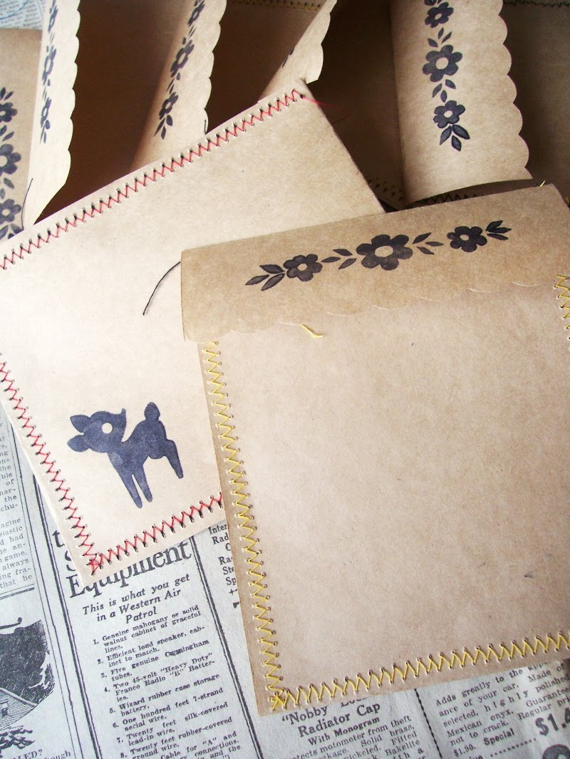 Paper covered craft wire - Quick Sew Envelopes