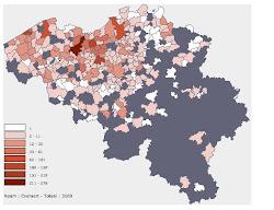 Verspreiding in Belgie