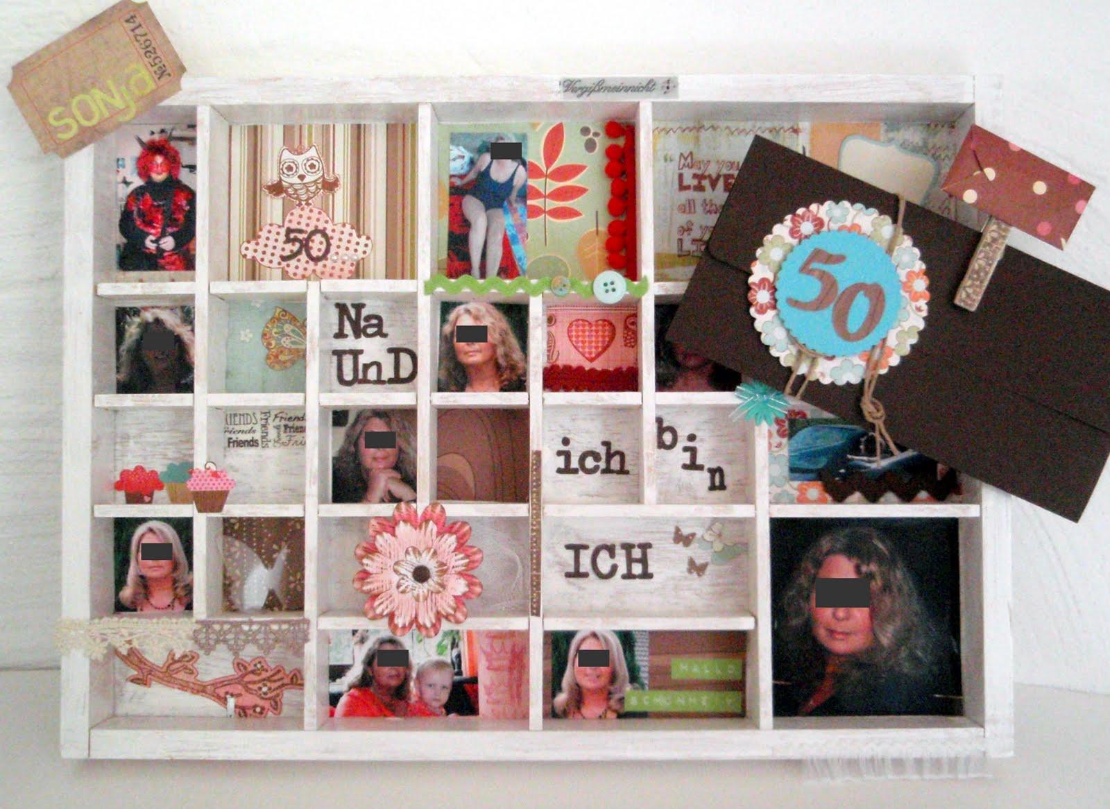 momentaufnahme ein setzkasten zum 50 geburtstag. Black Bedroom Furniture Sets. Home Design Ideas