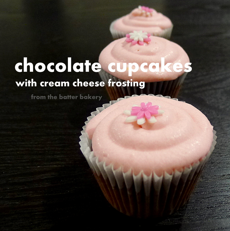 the cupcake recipe is the same one used for my chocolate cupcakes only ...